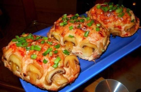 Оригинальное праздничное блюдо — куриное филе с начинкой