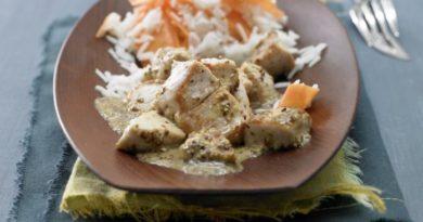 Вкуснейшая грудка индейки в горчично-медовом соусе с рисом басмати