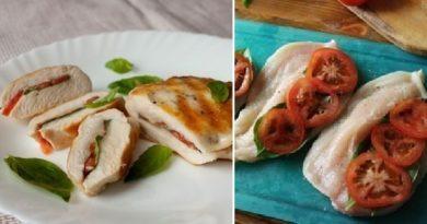 Ужин за пол часа: Куриные грудки с томатами и базиликом