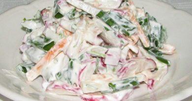 Очень актуальная подборка салатов с редисом