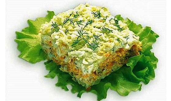 Салат из рыбы — Морской прибой