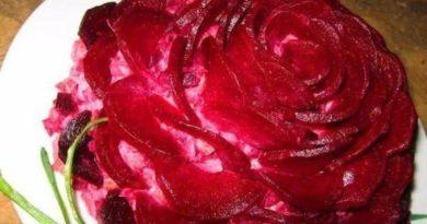 Селедочный салат Пурпурная роза