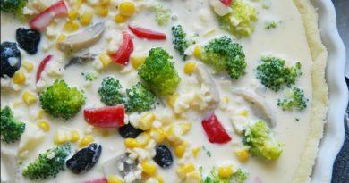 Овощной киш с сыром: пошаговый рецепт