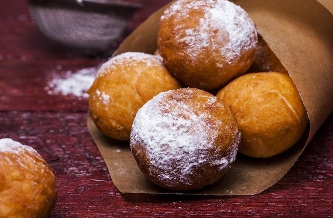 Вкусные творожные пончики