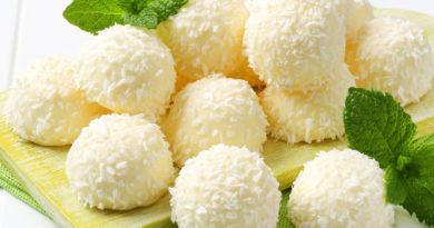 Кокосовые шарики без выпечки