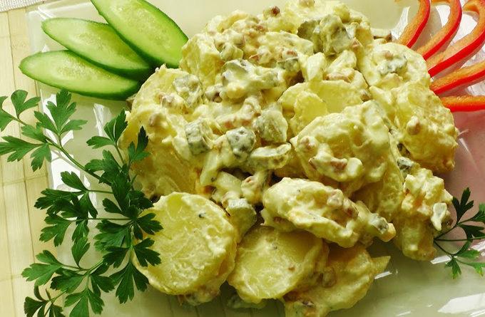 Постный картофельный салат «Деревенский»: вкусно - не обязательно сложно