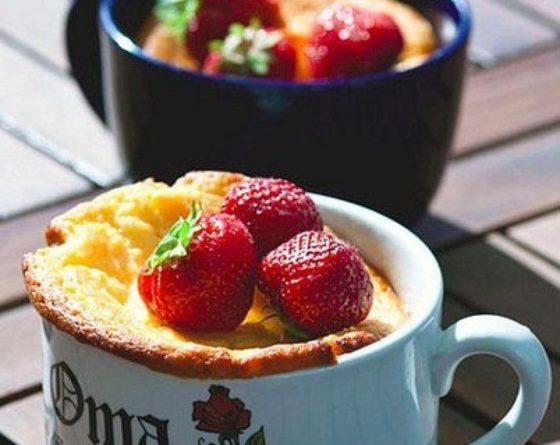 Творожный пирог в чашках