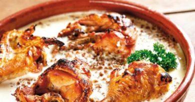 Гречка, запеченная с курицей и баклажанами