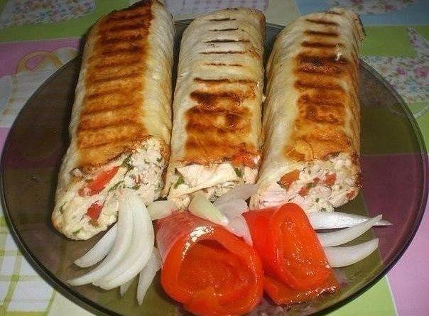 Закуска из тонкого грузинского лаваша