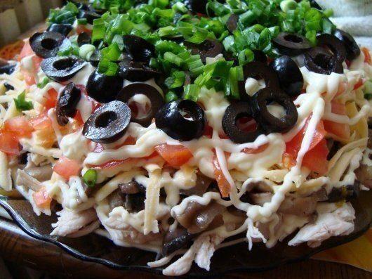 Салат «Здоровье» с грибами