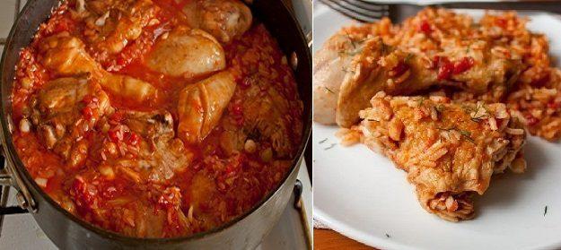 Этот рецепт покорил все кулинарные сайты — Курица с рисом в томате