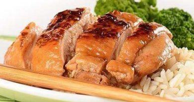 Курочка на японский манер с соевым соусом и медом