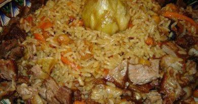 Плов огуджалинский — много мяса и мало риса!