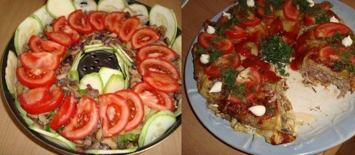 Кабачковая запеканка с фаршем. Прекрасное сочетание сочного мяса с овощами!