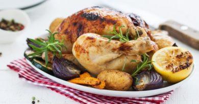 Курица с прованскими травами и овощами