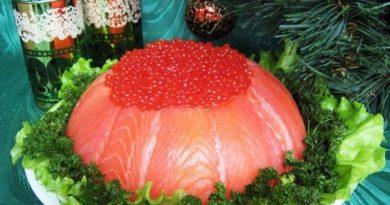 Рыбный закусочный торт «Рыбацкая удача»