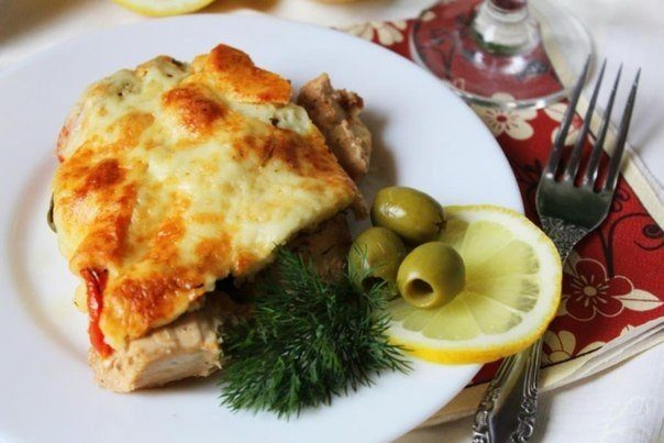 Оригинальное куриное филе с помидорами и оливками — покорило мое сердце!