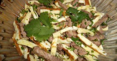 Узбекский салат «Малика» с говядиной: вот его вкус Вы запомните надолго!