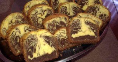 Этот мраморный кекс понравится абсолютно всем: и взрослым, и детям!