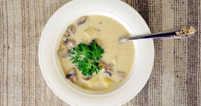 Английский куриный суп с плавленным сыром