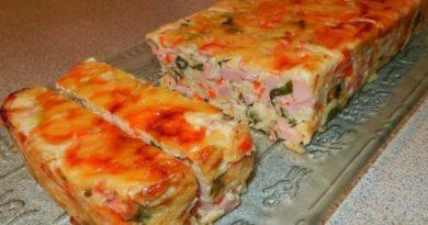 Интересное блюдо из любимых продуктов — ветчинно-кабачковый кекс