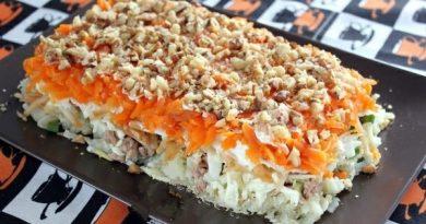 Салат с печенью трески «Старая гавань» — в самый раз на праздничный стол!