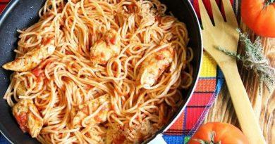 Ароматная куриная грудка с помидорами на сковороде. Вкусно!