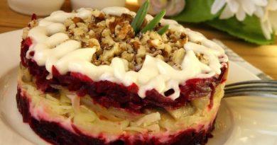 Роскошный салат из простых продуктов — салат «Амбассадор»