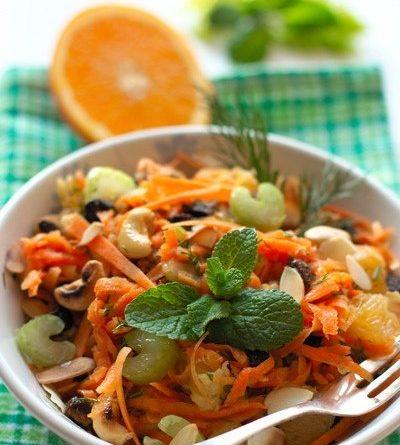 Пикантный морковный салат (с апельсином)