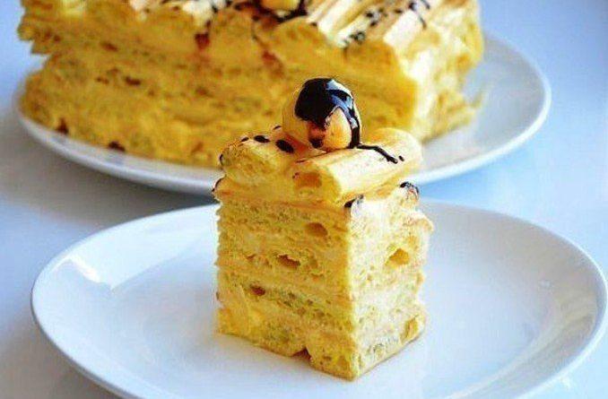 Торт (с заварным кремом)