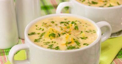 Суп с кальмарами и сыром — безумно вкусно и питательно!