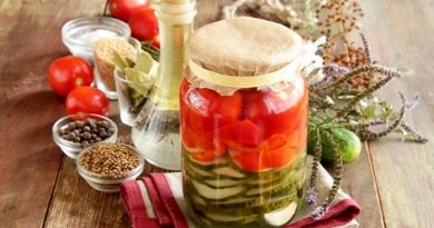 Маринованное ассорти (с помидорами и огурцами) на зиму
