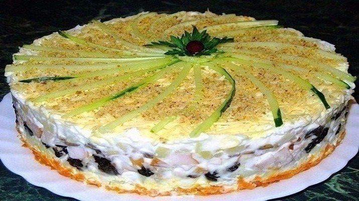 Салат-торт №1. Всегда пользуется большим успехом