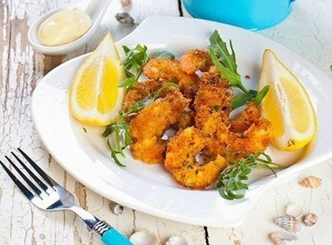 Хрустящие креветки (в панировке из хлебных крошек и Пармезана)