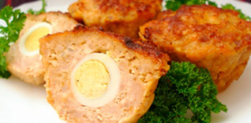 Вкусные маффины из мяса с сюрпризом