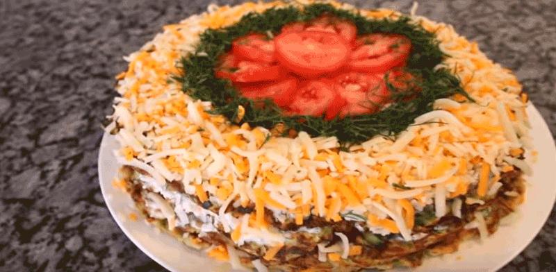 Кабачковый торт с помидорами.Вкуснейший летний торт из кабачков