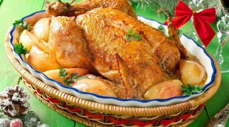 Курица с яблоками в сливочном соусе