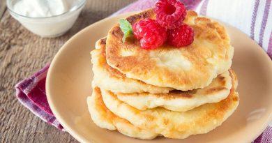 Творожные оладушки на завтрак