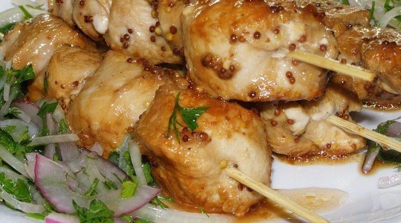Шашлык из курицы (в духовке)