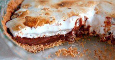 Пирог (с шоколадной начинкой и зефирным наполнением)