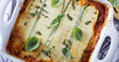 Летний вариант итальянского ужина: Лазанья из кабачков «Легкий ветерок»