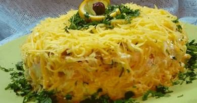 Очень вкусный салат «Белая ночь»
