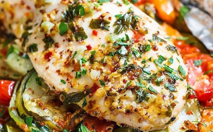 Куриные грудки (запечённые с овощами)
