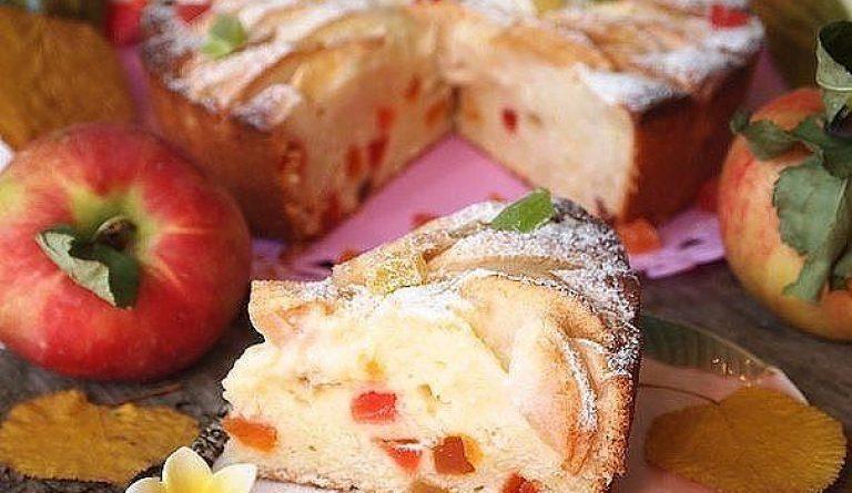 Творожно-яблочный пирог 🍴