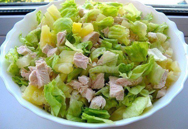 Прекрасный легкий салат для худеющих !