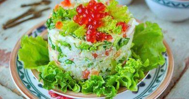 Салат (с рисом)