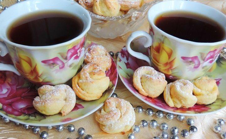 Творожное печенье «Чайная роза»