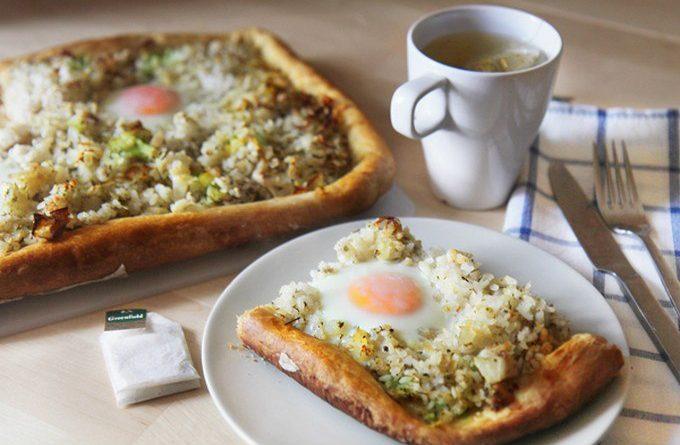 Рыбно-рисовый пирог на завтрак