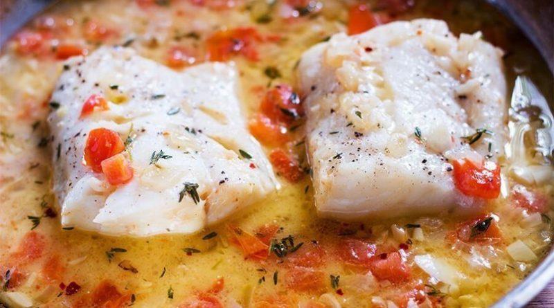 Тушёная рыба (с томатами) по-сицилийски