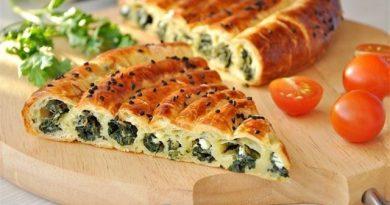 Пирог (со шпинатом и сыром) на завтрак